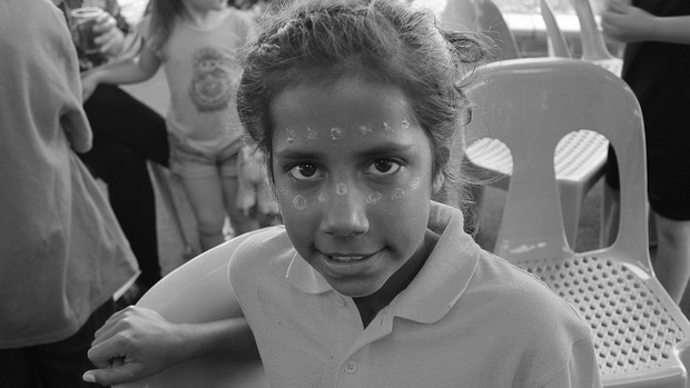 Aboriginal child participating in Koori Story Exchange project