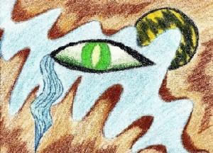 Weeping eye artwork