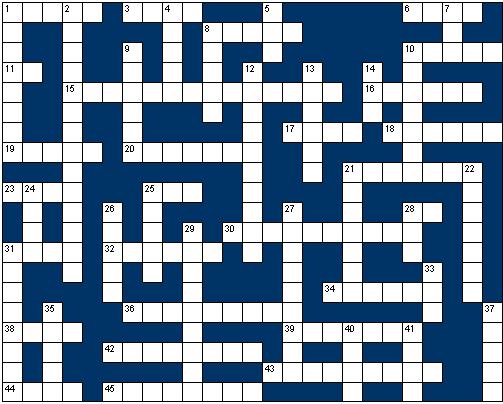 Senior - General knowledge crossword grid