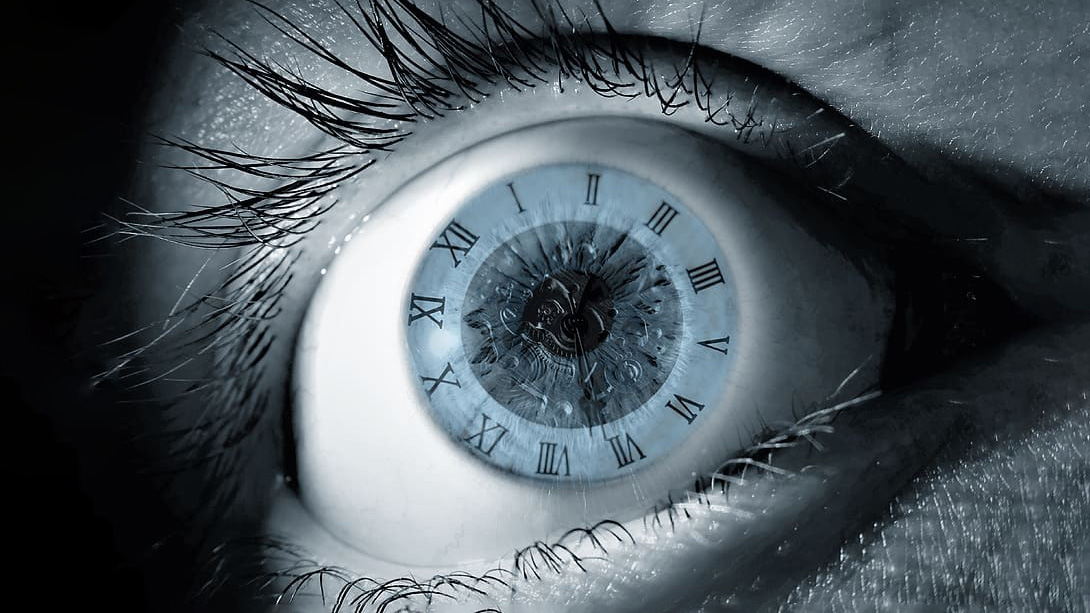 Eye with clock inside