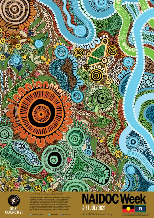 indigenous artwork as a poster
